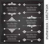 banner templates  elements. set | Shutterstock .eps vector #168174164