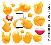 set of various emoji yellow... | Shutterstock .eps vector #1681744297
