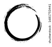 circle ink brush stroke ...   Shutterstock .eps vector #1681753441