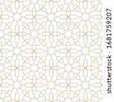 seamless pattern in islamic... | Shutterstock .eps vector #1681759207