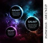 Galaxy Background With Three...