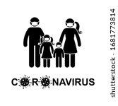 coronavirus stick figure man ... | Shutterstock .eps vector #1681773814