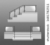 Set Of Stairs Front And Side...