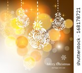 merry christmas and happy new... | Shutterstock .eps vector #168178721