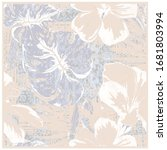 pastel tones silk scarf with... | Shutterstock .eps vector #1681803994