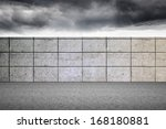 balcony and stormy sky | Shutterstock . vector #168180881