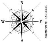 black compass rose   vector | Shutterstock .eps vector #16818181