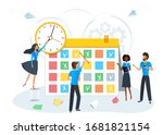 busy business people planning a ... | Shutterstock .eps vector #1681821154