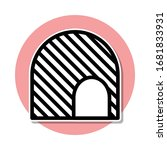 tunnel sticker icon. simple...