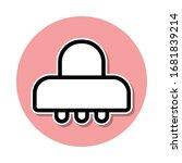 ufo sticker icon. simple thin...