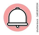 bell sticker icon. simple thin...