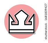 crown sticker icon. simple thin ...