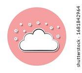 night cloud sign sticker icon....