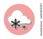 sign weather big snow sticker...