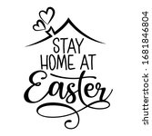 stay home at easter   stop... | Shutterstock .eps vector #1681846804