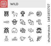 wild icon set. collection of...   Shutterstock .eps vector #1681853707