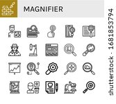 magnifier icon set. collection... | Shutterstock .eps vector #1681853794