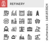 refinery simple icons set.... | Shutterstock .eps vector #1681853824