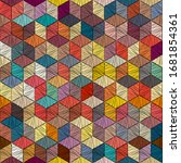 embroidered patchwork seamless...   Shutterstock .eps vector #1681854361