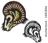 ram mascot for sport teams.... | Shutterstock .eps vector #1681866