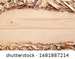Wood Chips Arranged In Stripes...
