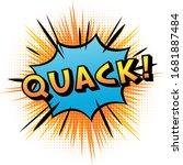 """quack"" Comics Sound Effect..."