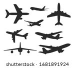 variety of planes silhouette set | Shutterstock .eps vector #1681891924