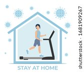 stay home during the... | Shutterstock .eps vector #1681909267