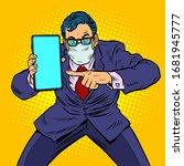 businessman in quarantine... | Shutterstock .eps vector #1681945777
