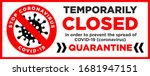 office is temporarily closed by ... | Shutterstock .eps vector #1681947151