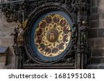 Zodiac Symbols And Statues Of...