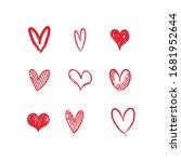 heart doodles collection. set... | Shutterstock .eps vector #1681952644