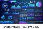 blue violet vector hud set in...   Shutterstock .eps vector #1681957537
