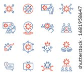 vector set of linear icons... | Shutterstock .eps vector #1681958647