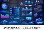 blue violet vector hud set in...   Shutterstock .eps vector #1681965094
