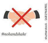 no handshake icon.  nohandshake.... | Shutterstock .eps vector #1681966981