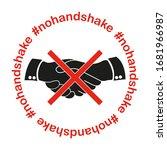 no handshake icon.  nohandshake.... | Shutterstock .eps vector #1681966987