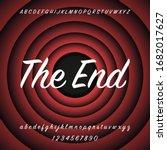 old red movie ending screen... | Shutterstock .eps vector #1682017627