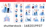 concept of risk of infection ... | Shutterstock .eps vector #1682019937