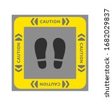 """caution"" footprint stickers.... 