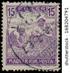 hungary   circa 1916  a stamp... | Shutterstock . vector #168204791