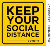 keep your social distance... | Shutterstock .eps vector #1682066827