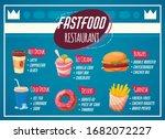 fast food restaurant menu in...   Shutterstock .eps vector #1682072227