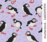 Seamless Pattern With Atlantic...