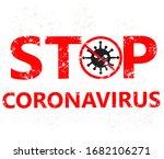 coronavirus outbreak stamp sign.... | Shutterstock . vector #1682106271