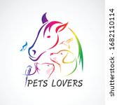 Vector Group Of Pets   Horse ...