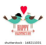 happy valentine's day lettering ... | Shutterstock .eps vector #168211031