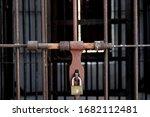 Prison Gate Locked. Perimeter...
