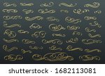dividers text. calligraphic... | Shutterstock .eps vector #1682113081