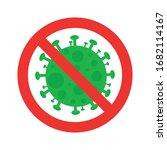 sign caution stop coronavirus ... | Shutterstock .eps vector #1682114167